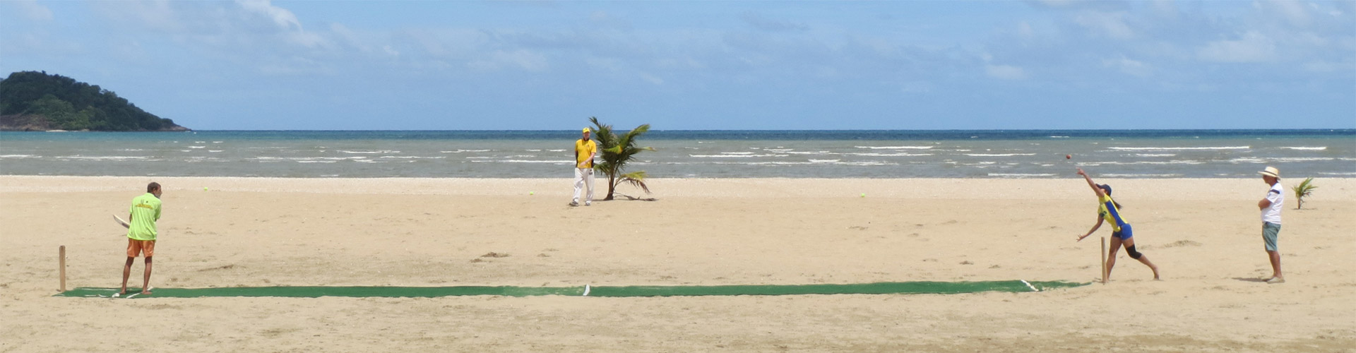 koh chang beach cricket match 1