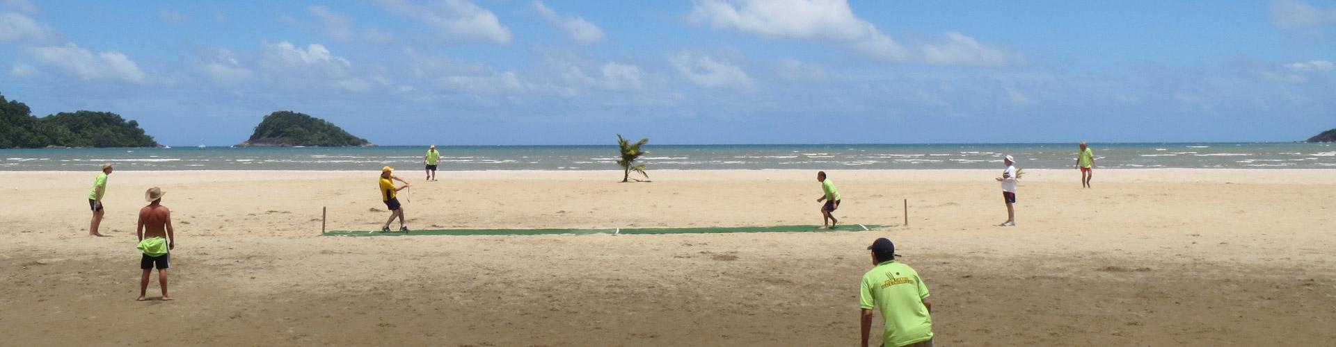 koh chang beach cricket match 2